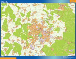 Mapa Kassel en Alemania gigante
