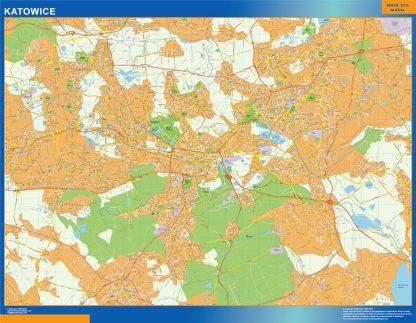 Mapa Katowice Polonia gigante