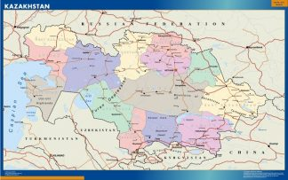 Mapa Kazakhstan gigante