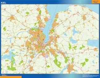 Mapa Kiel en Alemania gigante