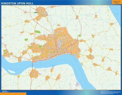 Mapa Kingston Upon Hull gigante