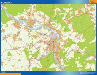 Mapa Koblenz en Alemania gigante