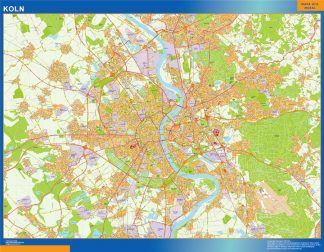 Mapa Koln en Alemania gigante