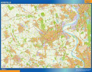 Mapa Krefeld en Alemania gigante