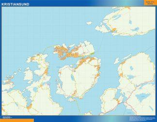 Mapa Kristiansund en Noruega gigante