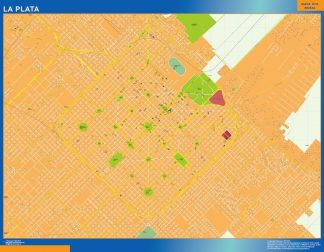 Mapa La Plata en Argentina gigante