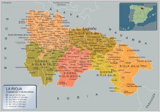Mapa La Rioja por municipios gigante