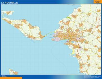 Mapa La Rochelle en Francia gigante