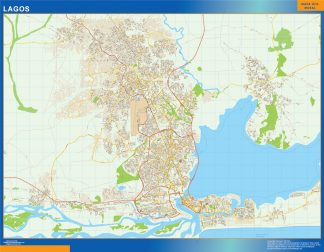Mapa Lagos en Nigeria gigante