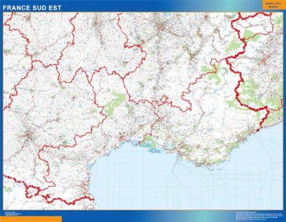 Mapa Languedoc Provence en Francia gigante