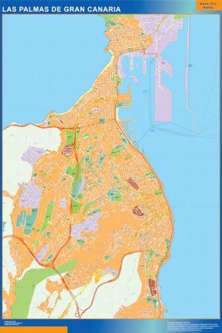 Mapa Las Palmas De Gran Canaria callejero gigante