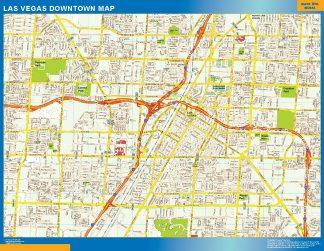 Mapa Las Vegas downtown gigante