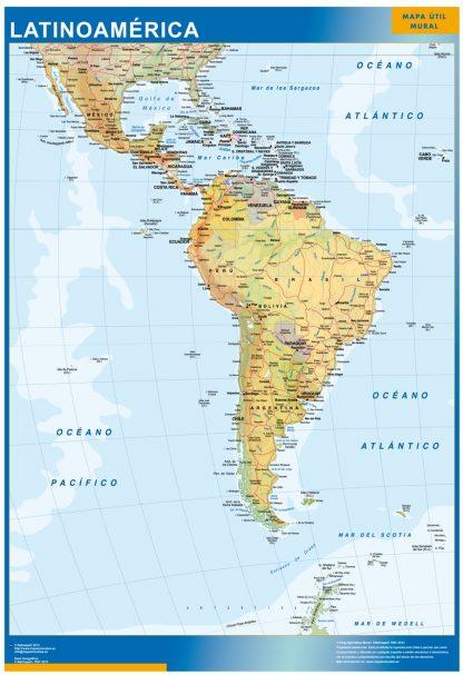 Mapa Latinoamerica gigante