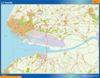 Mapa Le Havre en Francia gigante