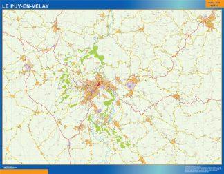 Mapa Le Puy en Francia gigante