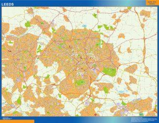 Mapa Leeds gigante