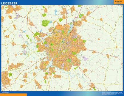 Mapa Leicester gigante