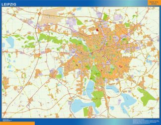 Mapa Leipzig en Alemania gigante