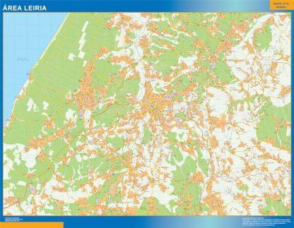 Mapa Leiria área urbana gigante