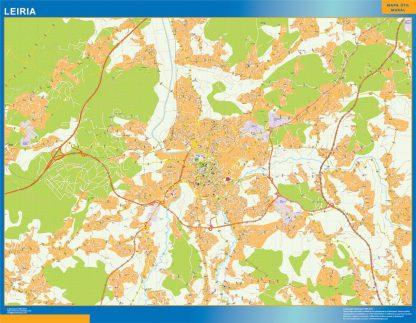 Mapa Leiria en Portugal gigante