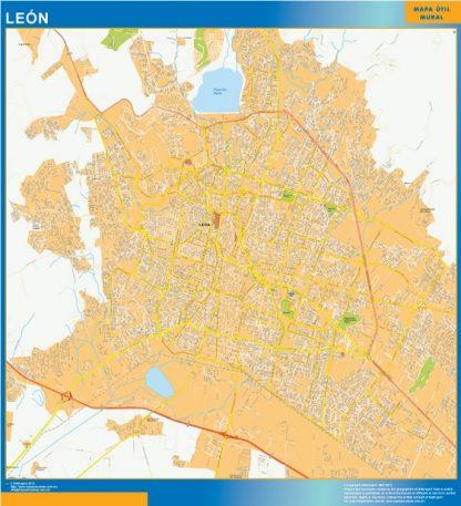 Mapa Leon Centro en Mexico gigante