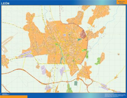 Mapa Leon callejero gigante