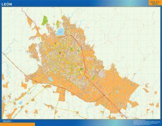 Mapa Leon en Mexico gigante
