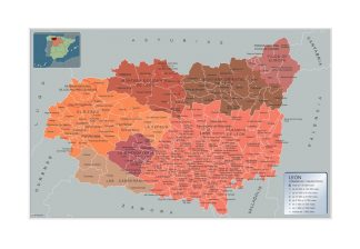 Mapa Leon por municipios gigante
