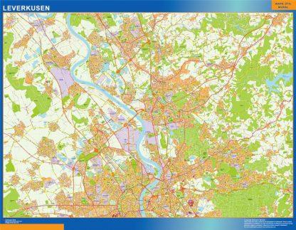 Mapa Leverkusen en Alemania gigante