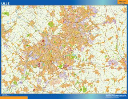 Mapa Lille en Francia gigante