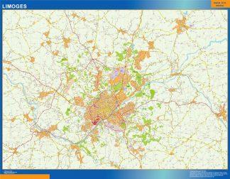 Mapa Limoges en Francia gigante