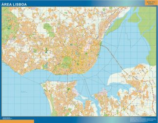 Mapa Lisboa área urbana gigante