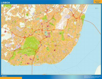 Mapa Lisboa en Portugal gigante