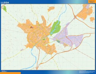 Mapa Lleida callejero gigante
