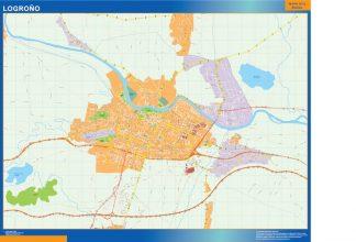 Mapa Logrono callejero gigante