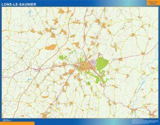 Mapa Lons Le Saunier en Francia gigante