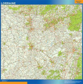 Mapa Lorraine en Francia gigante