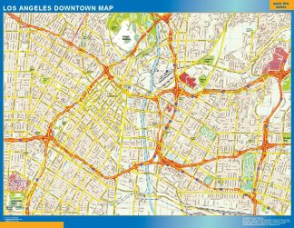 Mapa Los Angeles downtown gigante
