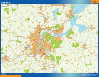 Mapa Lubeck en Alemania gigante