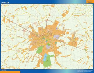 Mapa Lublin Polonia gigante