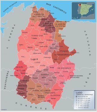 Mapa Lugo por municipios gigante