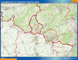 Mapa Luxembourg Regions Frontaliers en Francia gigante