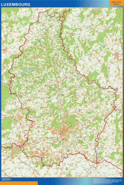 Mapa Luxemburgo gigante