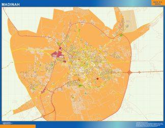 Mapa Madinah en Arabia Saudita gigante
