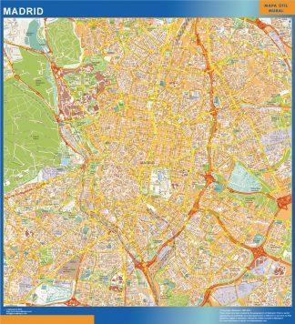 Mapa Madrid callejero gigante