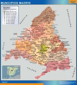 Mapa Madrid por municipios gigante