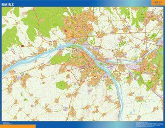 Mapa Mainz en Alemania gigante