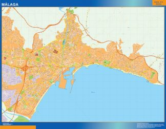 Mapa Malaga callejero gigante