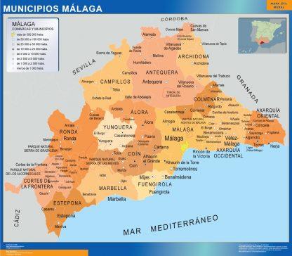 Mapa Malaga por municipios gigante