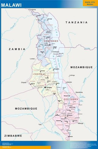 Mapa Malawi gigante